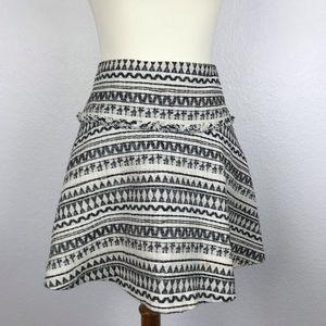 Banana Republic Print Full Mini Skirt SK22